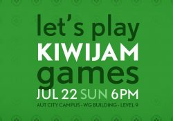 Let's Play kiwijam Games at 6pm 22 July 2018