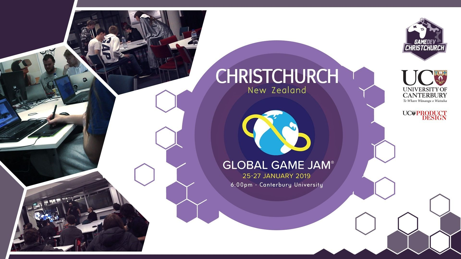 Christchurch site for Clobal Game Jam on 25 - 27 January 2019